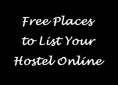Free Places to List your Hostel Online