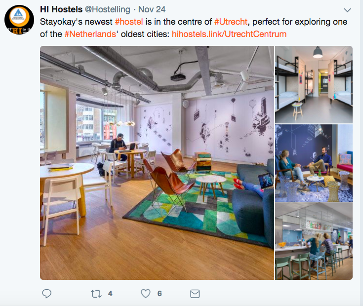 HI Hostels stayokay twitter post with pictures