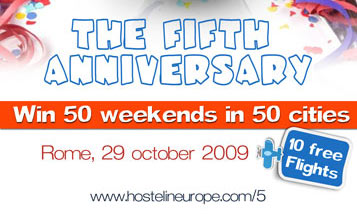 Hostels Europe 5th Anniversary