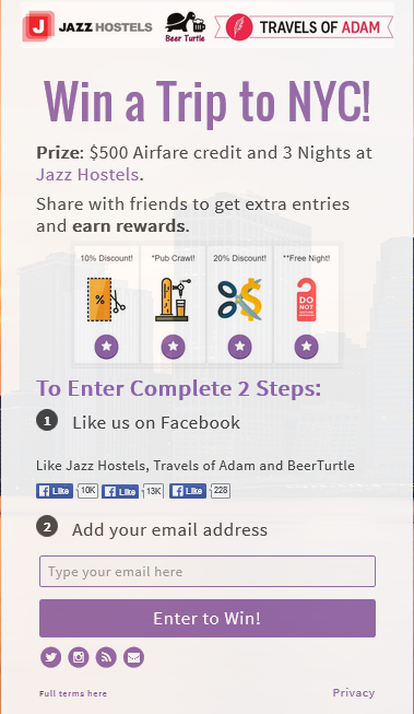 Jazz Hostels Contest