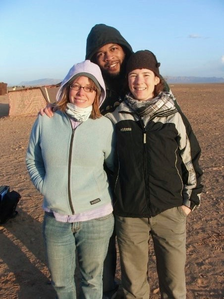 Kat in Morocco with Friends