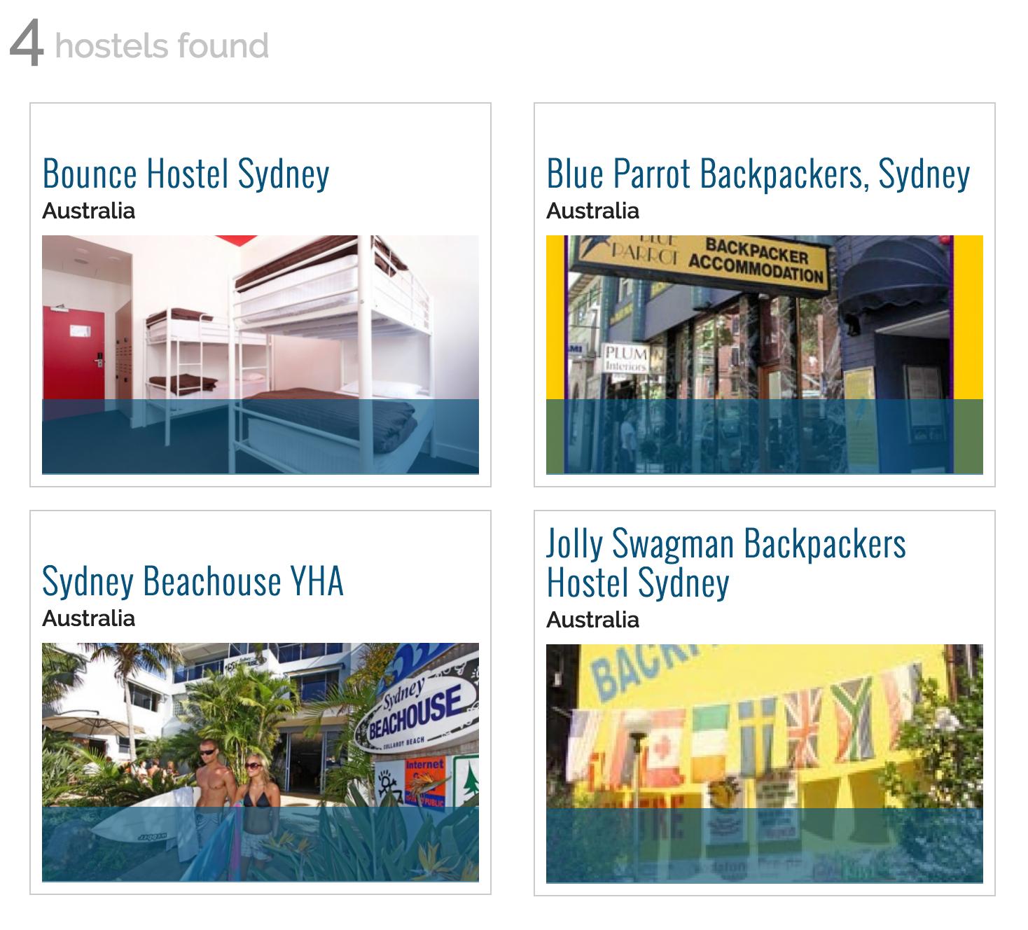 Hostel Management OurHostels Database Screenshot