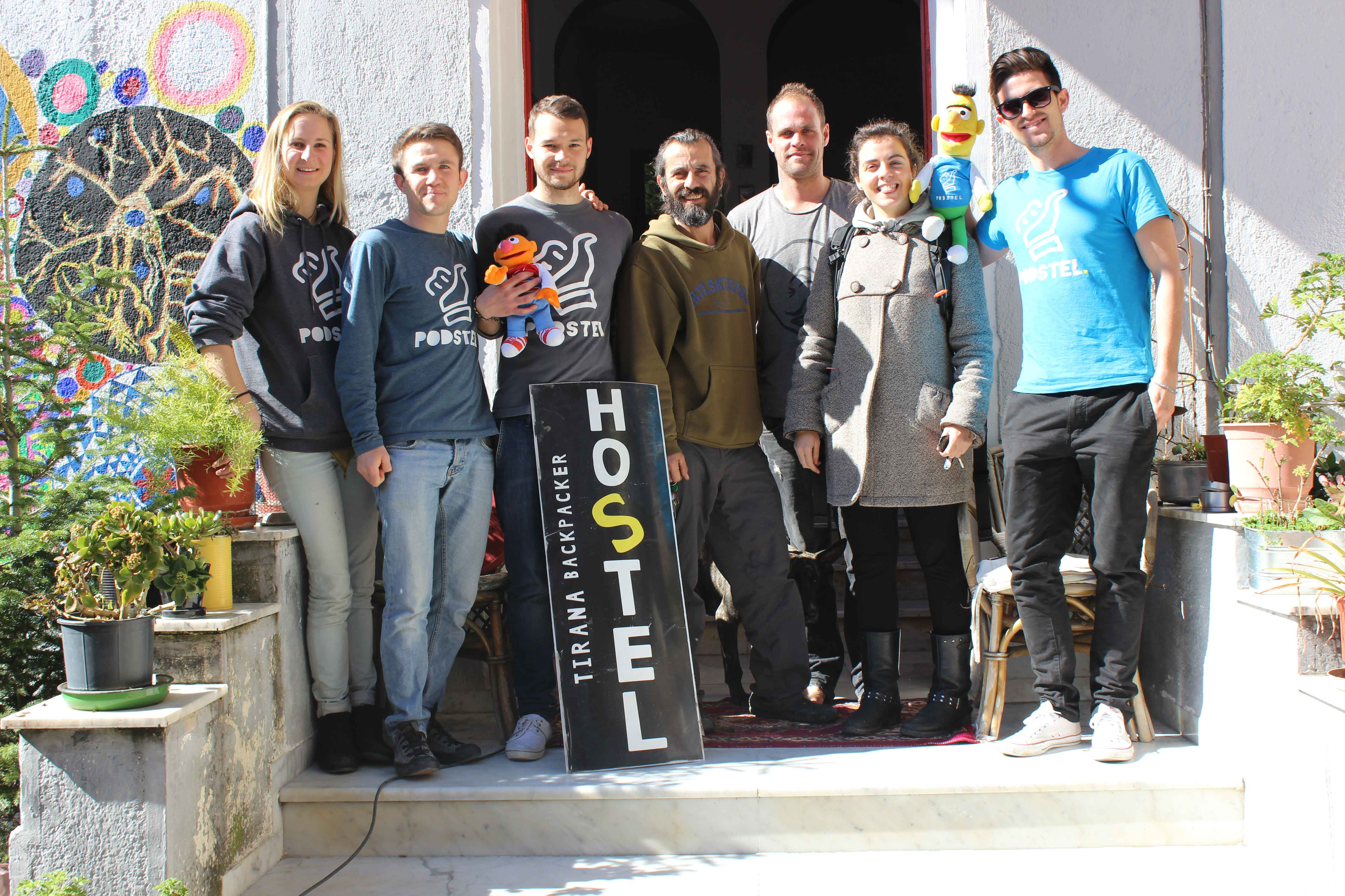 The crew behind the hostel Podstel