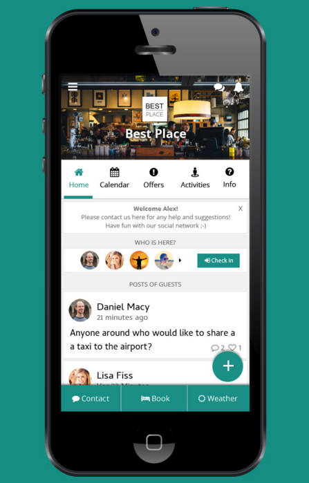 Gloqon is a web app used for social hospitality