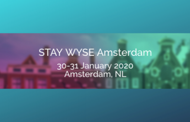 StayWyse Amsterdam Poster, January, 2020