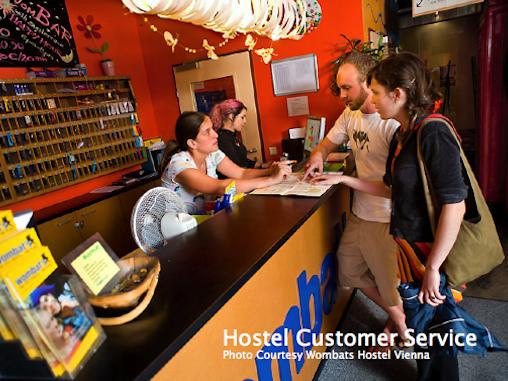 Customer Service Desk, Wombats Hostel
