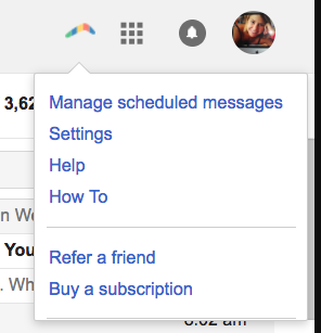 Boomerang for Gmail manage scheduled messages