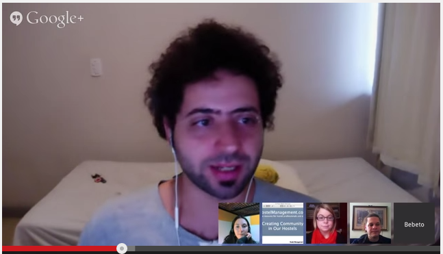 panel discussion google hangouts youtube hostel managers