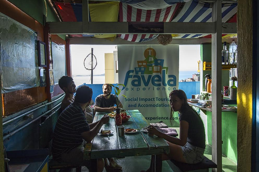 favela experience hostel with guests inside