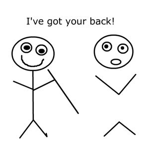 Stick Figures I got your back