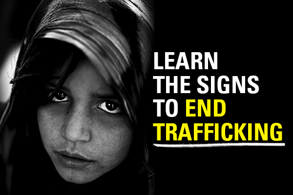 There are many signs of human trafficking to warn you of a situation