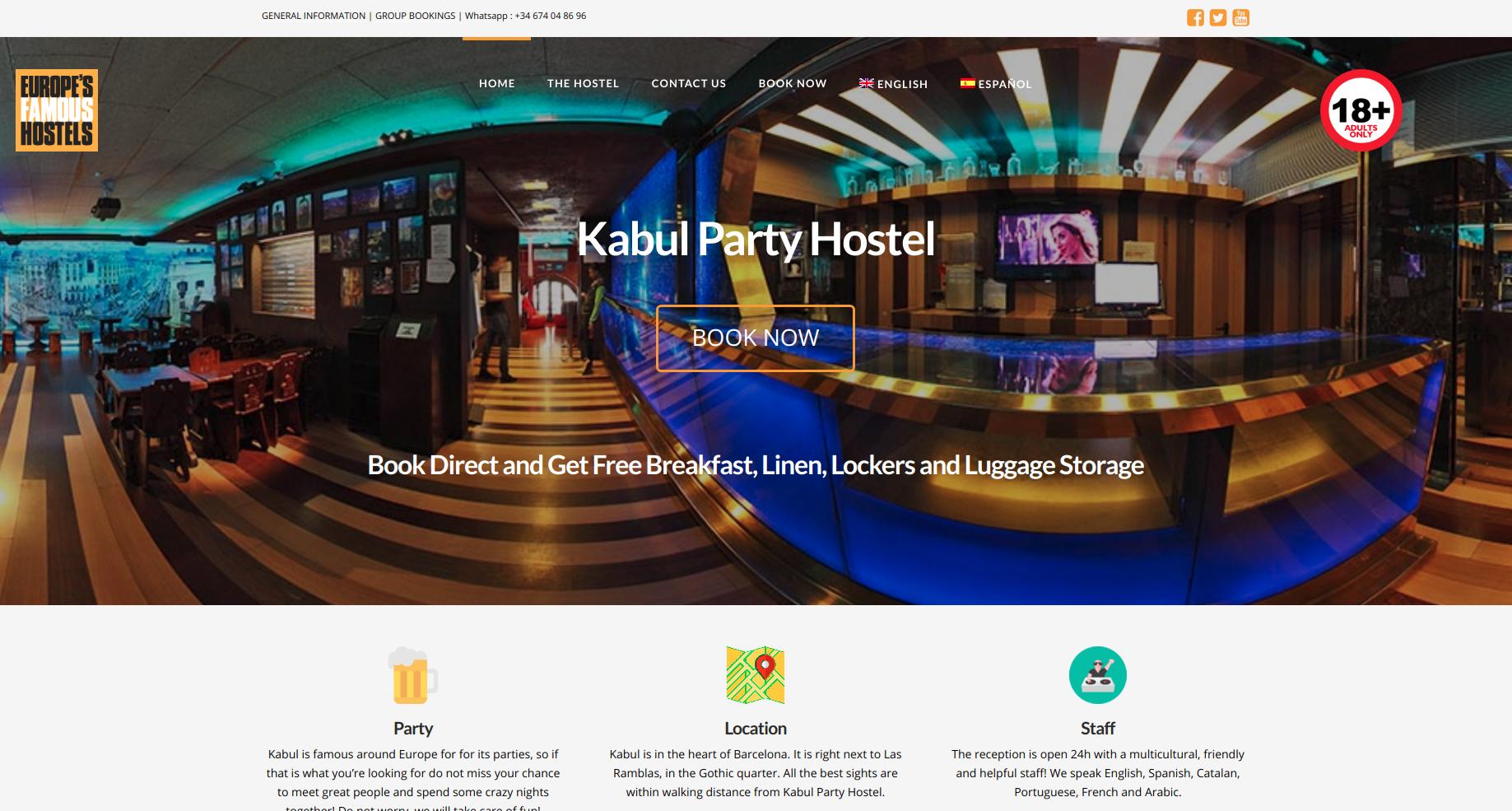 Image Kabul Hostel Website