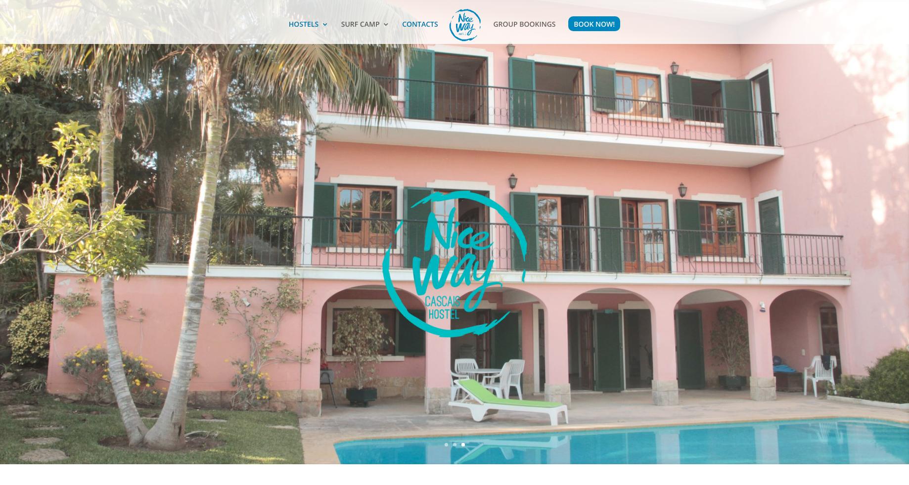 Image of Niceway Hostel's Website