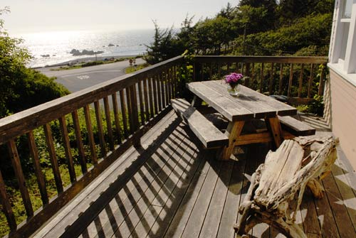 redwood hostel deck
