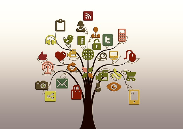 social media tree facebook twitter branch cartoon