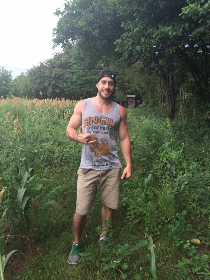 Matt White on his land for Ruamoko Hostel
