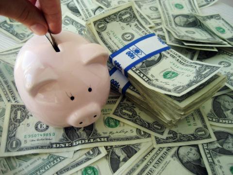 Saving Money For Hostel piggy bank