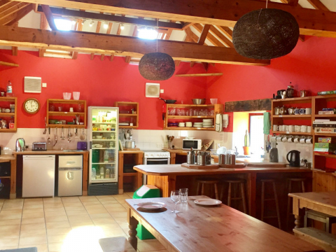 Kitchen at Deepdale Backpackers & Camping