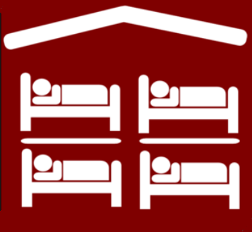 Hostel sign logo bunk beds List your hostel on free places