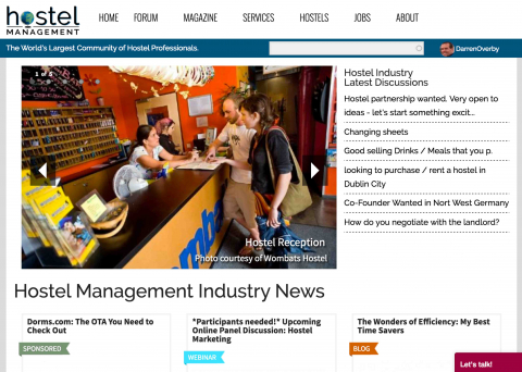 Hostel Management Home Page