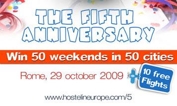 Hostels Europe 5th Anniversary
