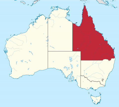 Queensland Australia Map