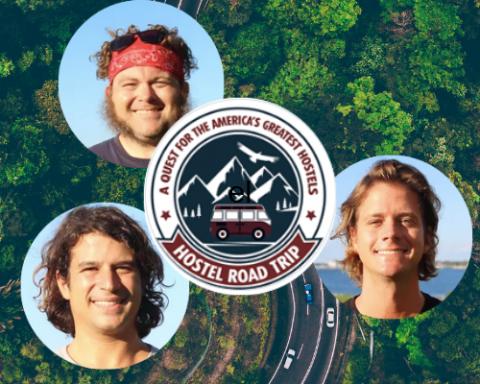 Hostel Roadtrip Podcast poster, 3 guys