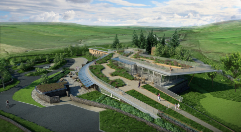 Artists rendition of The Sill at Hadrian's Wall Hostel in Northumberland