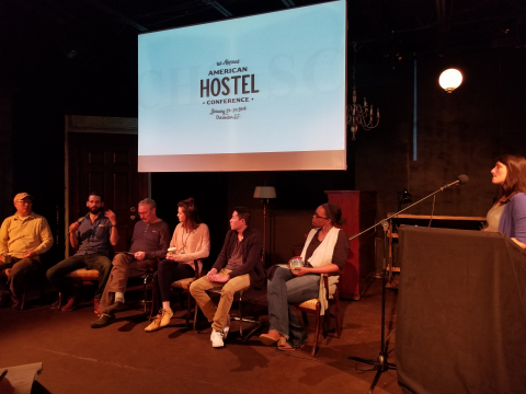American hostel conference panel discussion