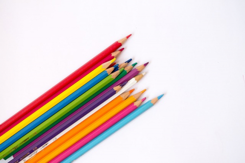 color pencils drawing design