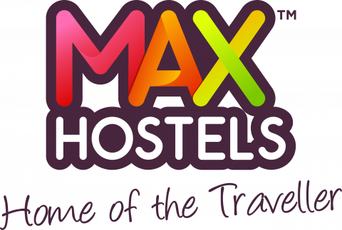 The MAX Hostel colorful logo
