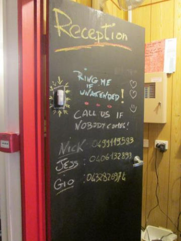 reception-chalkboard-paint-door-phone-numbers