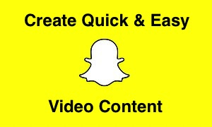 Logo of Snapchat for webinar video tutorial