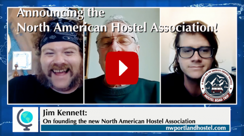 Video Thumbnail for Hostel Road Trip Podcast Interview with Jim Kennett