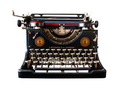 Image of vintage typewritter