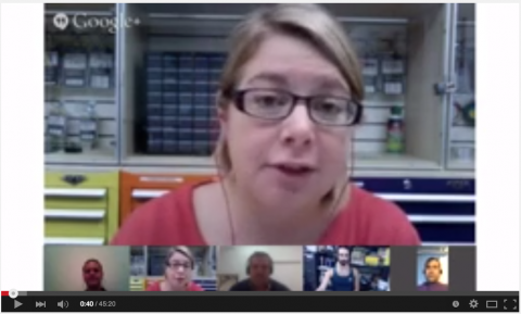 virtual unconference panel discussion launched googe hangouts on air youtube