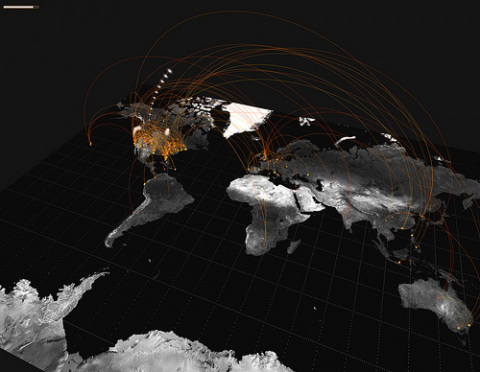 world-map-connected-countries-data