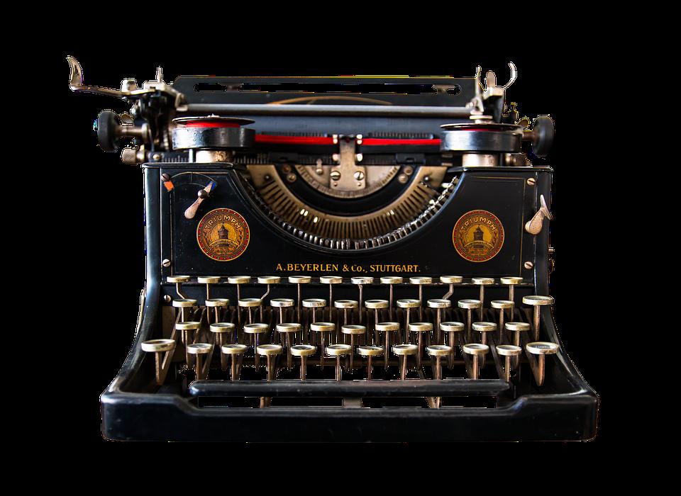 Image of vintage typewritter