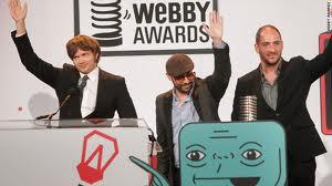 webby awards for hostelworld dot com and boo dot com